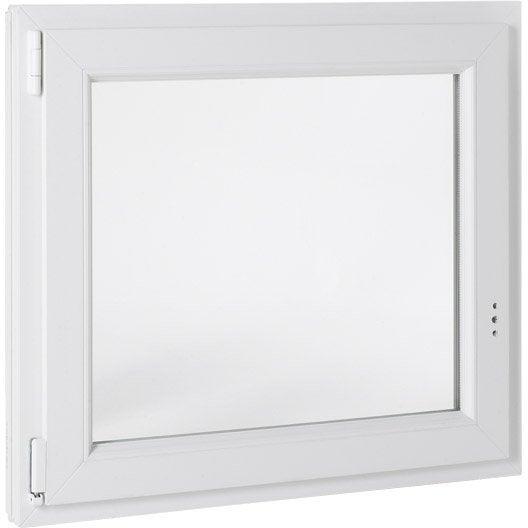 Fenêtre PVC PRIMO, 1 vantail tirant gauche, H95xl60 cm | Leroy Merlin