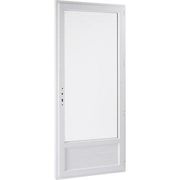Porte-fenêtre pvc PRIMO 1 vantail ouvrant à la française H.215 x l.80 cm