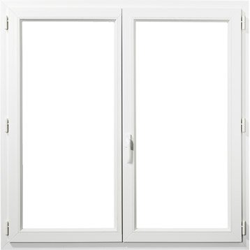 Fenêtre pvc PRIMO 2 vantaux ouvrant à la française H.125 x l.120 cm