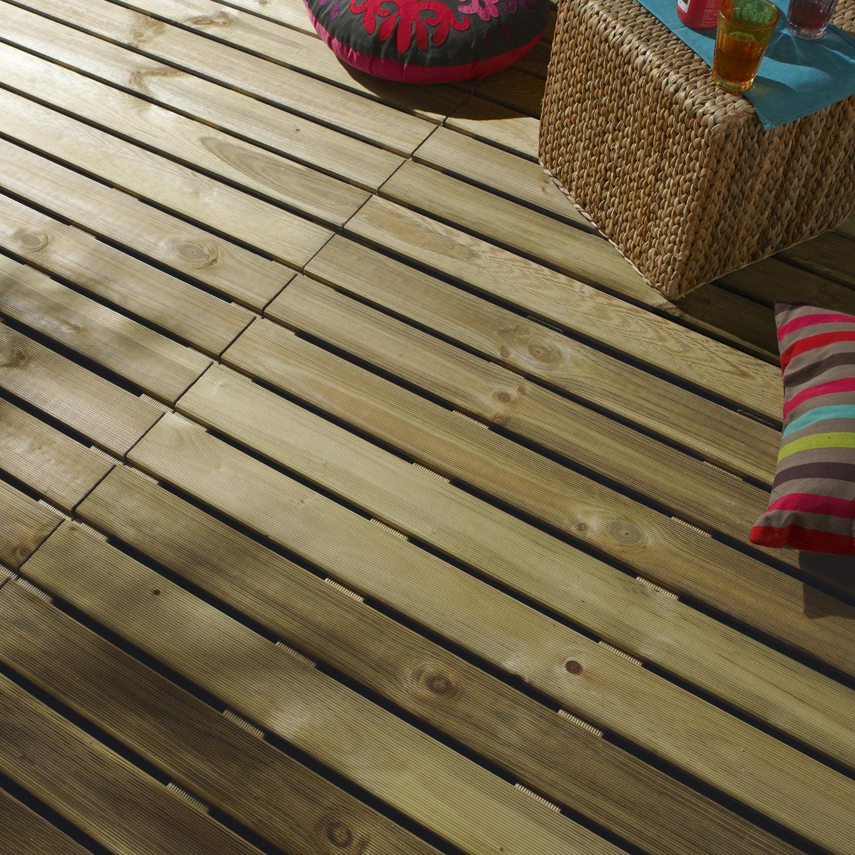 dalle bois pin l100 x l100 cm x ep28 mm