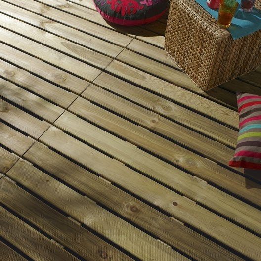 Dalle bois pour terrasse et jardin dalle et lame bois pour terrasse et jard - Leroy merlin dalle exterieur ...
