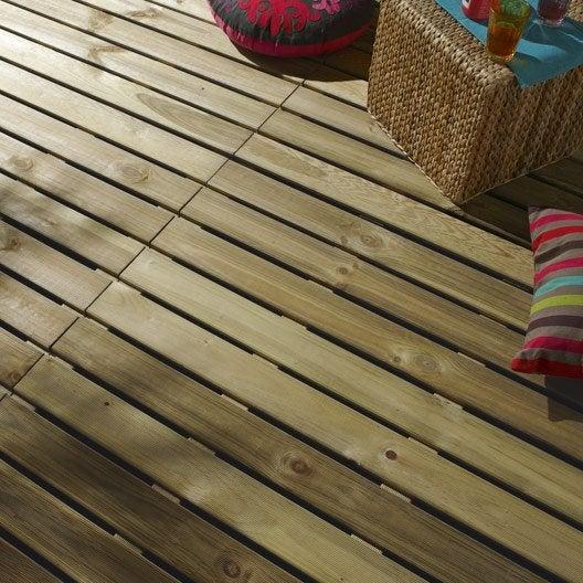 Dalle primo en bois l 100 cm x larg 100 cm x ep 28 mm - Dalle terrasse composite leroy merlin ...