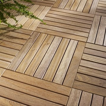Dalle et lame bois pour terrasse et jardin terrasse et sol ext rieur lero - Dalle terrasse composite leroy merlin ...