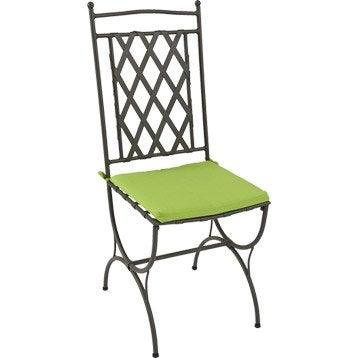 Coussin d'assise de chaise ou de fauteuil NATERIAL Laura, uni vert