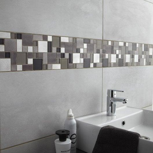 Carrelage mural denver premium en fa ence gris clair 30 for Carrelage 30 60 gris