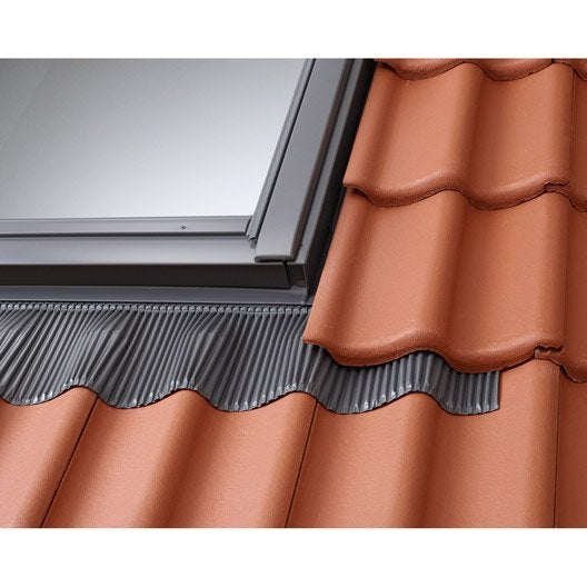 Raccord pour fenêtre de toit VELUX Edw mk04, gris