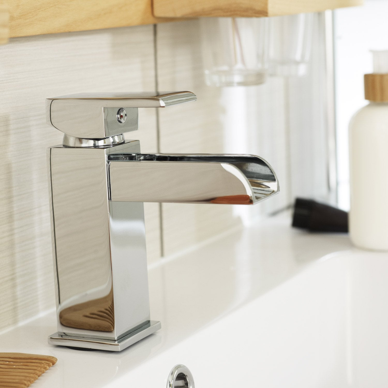 Mitigeur de lavabo cascade chromé brillant Klios | Leroy Merlin