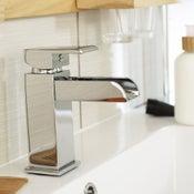 Mitigeur de lavabo cascade chromé brillant Klios