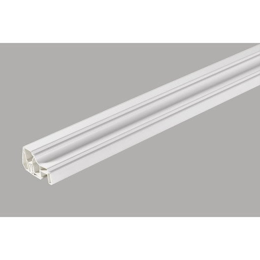 Profil de finition clipsable pvc blanc 260x4x5cm leroy merlin - Profils de finition pour lambris pvc ...