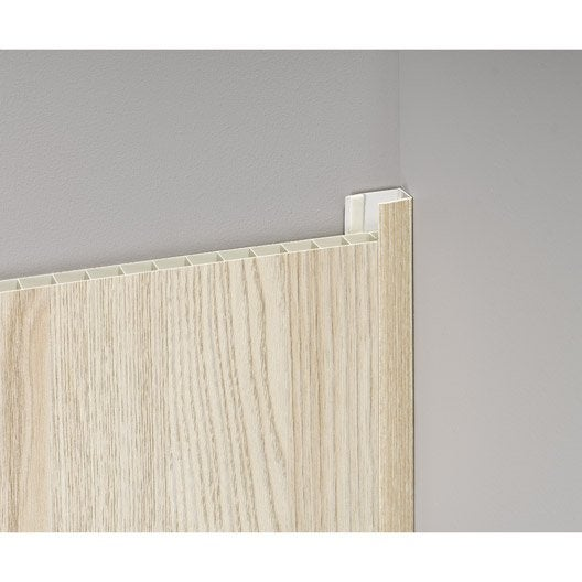 profil de d part et finition pvc bois clair leroy merlin. Black Bedroom Furniture Sets. Home Design Ideas