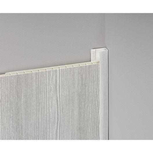 profil de d part et finition pvc bois gris clair leroy merlin. Black Bedroom Furniture Sets. Home Design Ideas