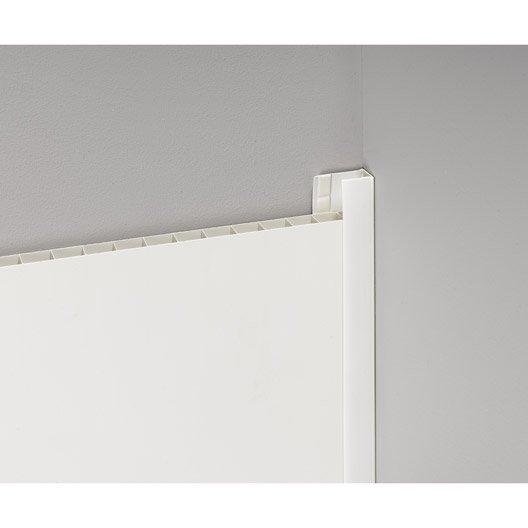 profil de d part et finition pvc blanc satin leroy merlin. Black Bedroom Furniture Sets. Home Design Ideas