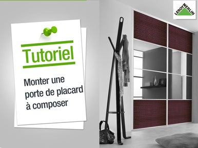 poser des portes de placards leroy merlin. Black Bedroom Furniture Sets. Home Design Ideas