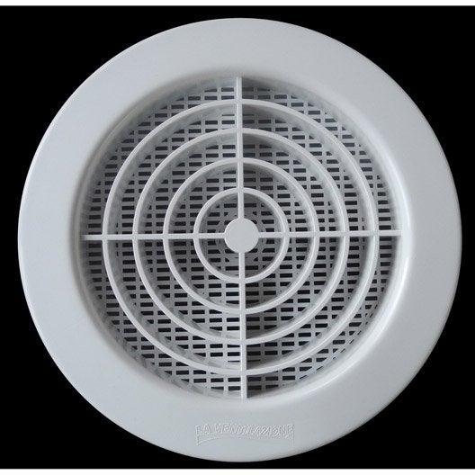 grille de ventillation ronde pvc x cm first. Black Bedroom Furniture Sets. Home Design Ideas