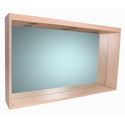 miroir avec clairage int gr l 120 cm sensea storm leroy merlin. Black Bedroom Furniture Sets. Home Design Ideas