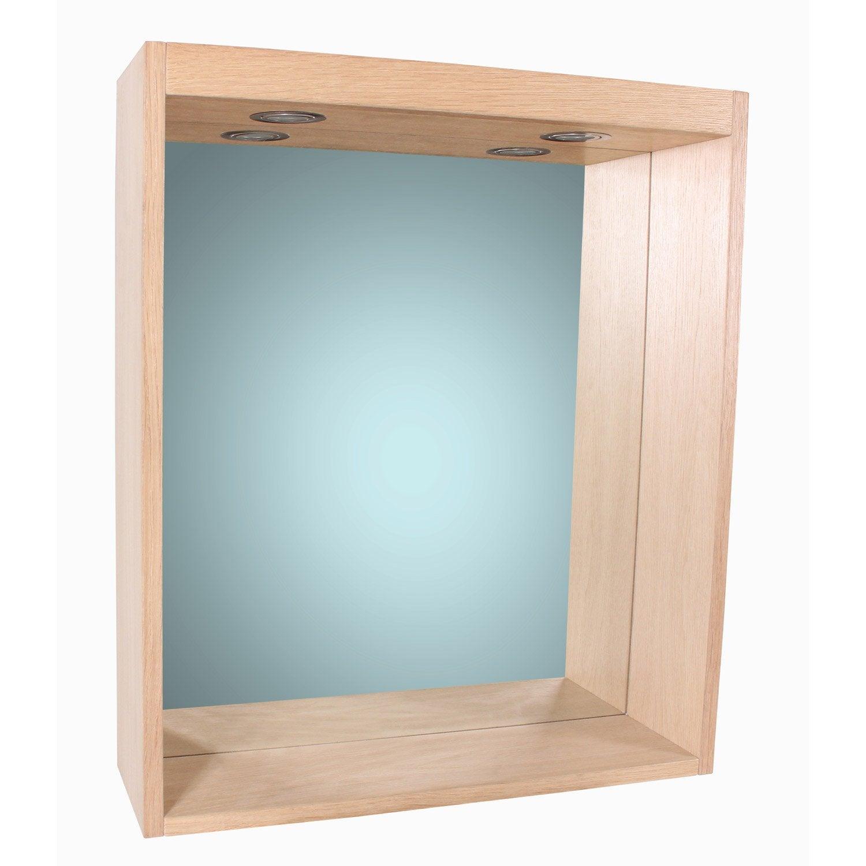 Miroir avec éclairage intégré l. 60 cm, SENSEA Storm | Leroy Merlin