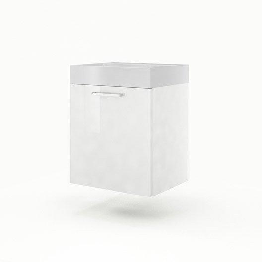 meuble vasque 60 cm blanc neo line leroy merlin. Black Bedroom Furniture Sets. Home Design Ideas