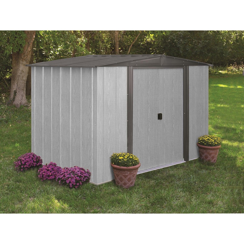 abri de jardin m tal dw86lm m ep mm leroy merlin. Black Bedroom Furniture Sets. Home Design Ideas