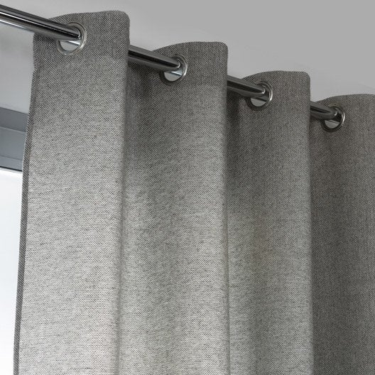 rideau tamisant jake gris x cm leroy merlin. Black Bedroom Furniture Sets. Home Design Ideas