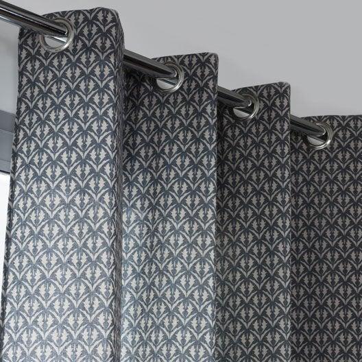 rideau tamisant patrimoine noir blanc x cm leroy merlin. Black Bedroom Furniture Sets. Home Design Ideas