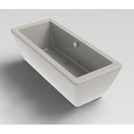 Baignoire lot salle de bains au meilleur prix leroy for Baignoire acrylique prix