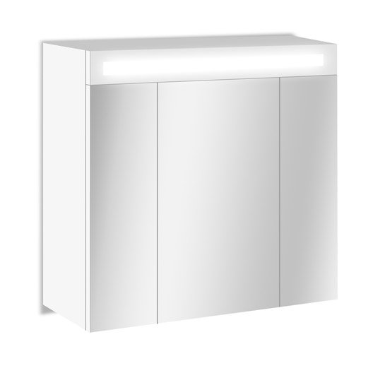 armoire de toilette lumineuse cm blanc telio. Black Bedroom Furniture Sets. Home Design Ideas