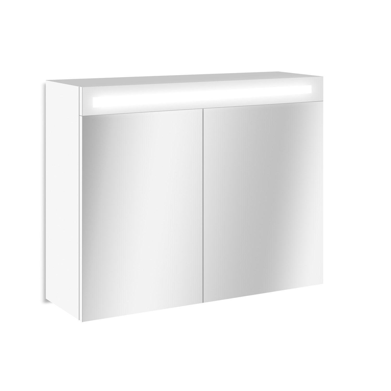 Hauteur Armoire De Toilette armoire de toilette lumineuse l. 90 cm, sensea telio