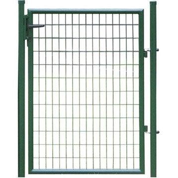 Portillon Soudé Eco vert H.1.25 x L.1m, maille 100x50mm