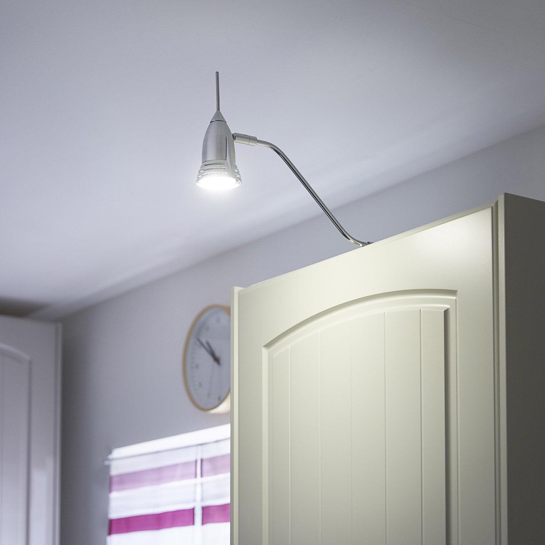 spot dessus de meuble worm sans ampoule gu10 leroy merlin. Black Bedroom Furniture Sets. Home Design Ideas
