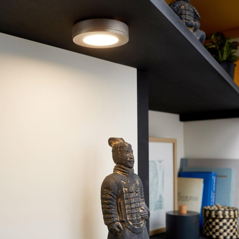 Spot à encastrer ou à fixer LED intégrée Rio, laiton, 2 W, lumière blanche