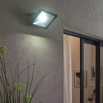 Projecteur à fixer extérieur Yonkers LED intégrée 50 W = 3750 Lm, noir INSPIRE