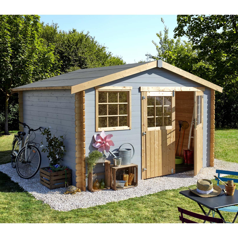 Aménager Un Abri De Jardin tout abri de jardin bois florencia, 9.96 m� ep.28 mm | leroy merlin