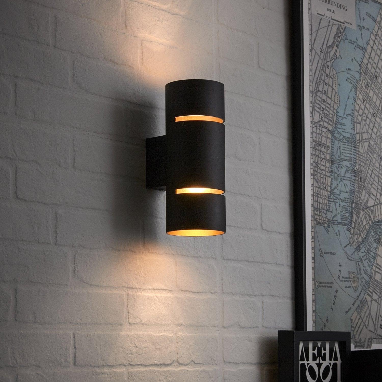 applique, design led intégrée tubbo métal noir et cuivre, 2 inspire
