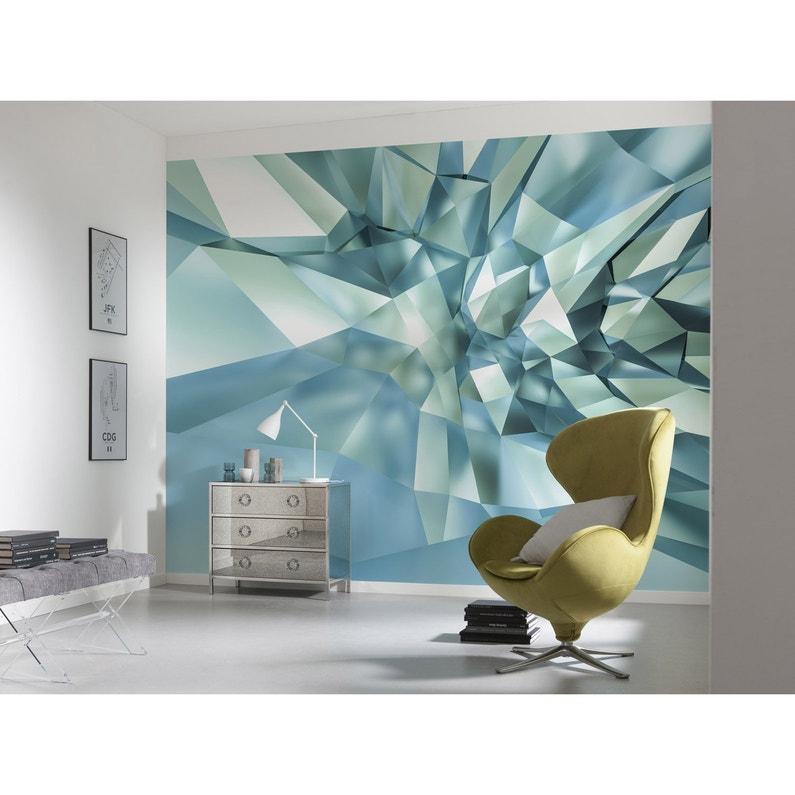 Papier Peint 3d Leroy Merlin.Photo Murale 3d Crystal Cave Bleu Komar L 368 X H 254 Cm