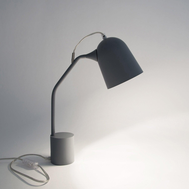 Lampe de bureau, e14 à poser gris Magnétic