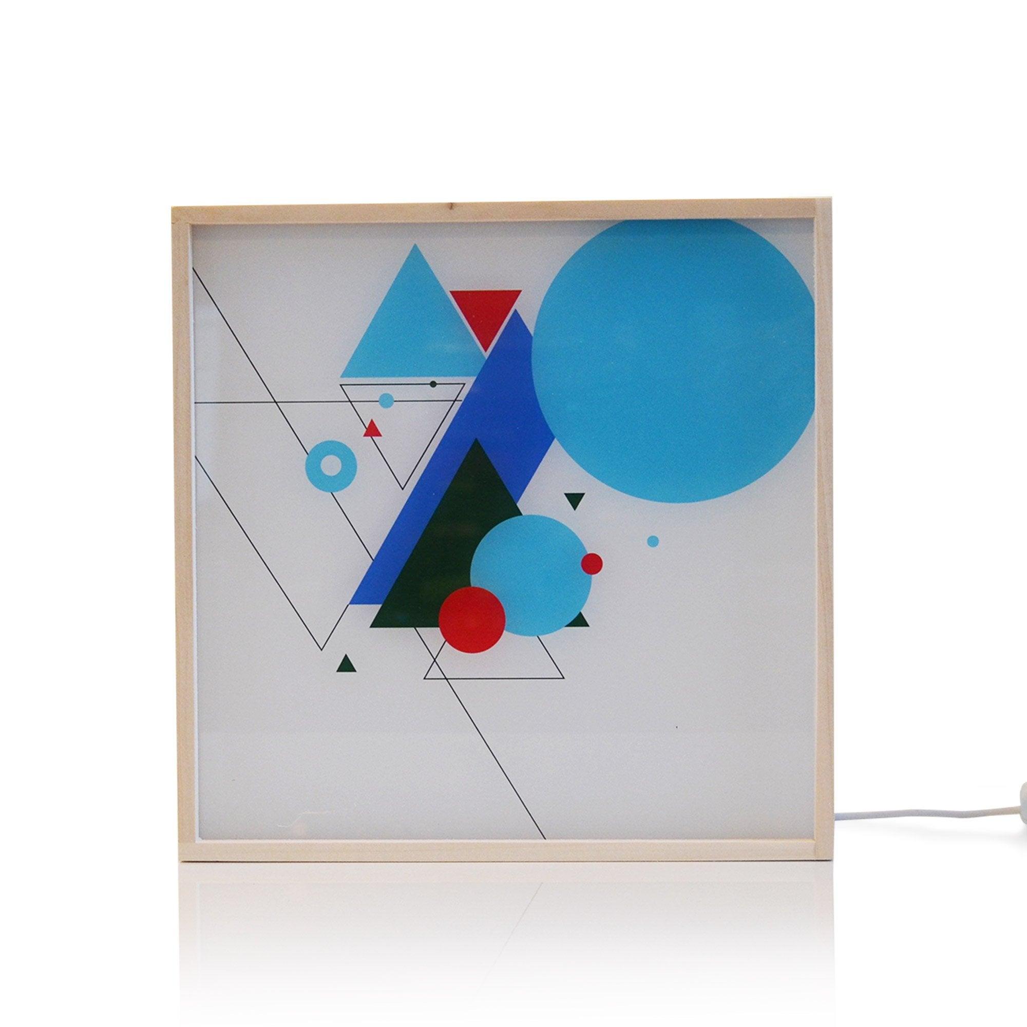Light box, led intégrée Dada light, synthétique bleu, 9.6 W