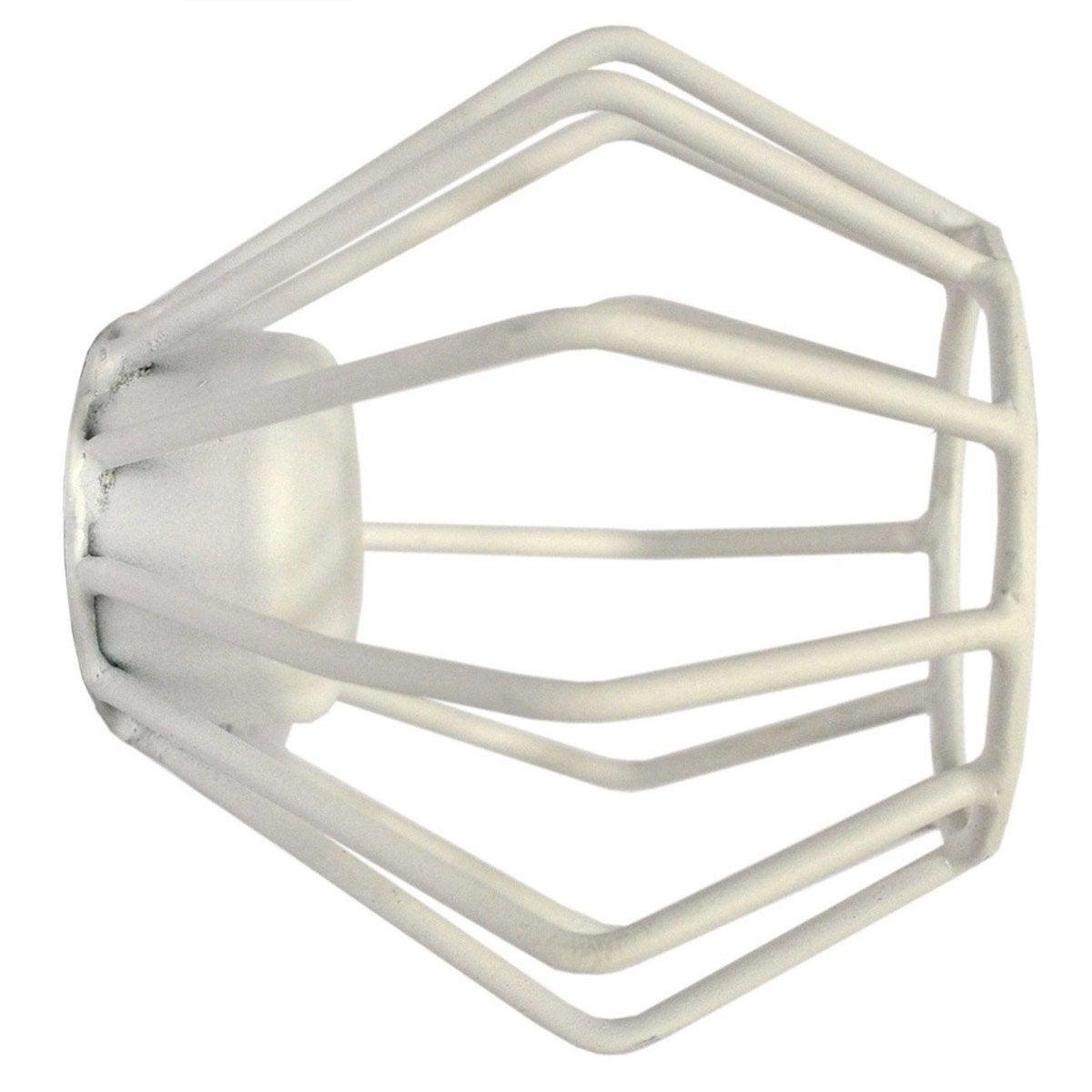 Embout INSPIRE, blanc mat, pour tringle à rideau Diam.28 mm
