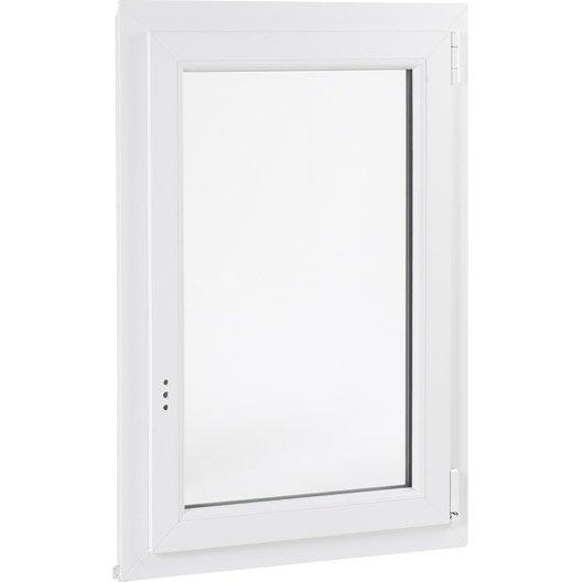 Fenêtre pvc PRIMO 1 vantail ouvrant à la française H.135 x l.80 cm