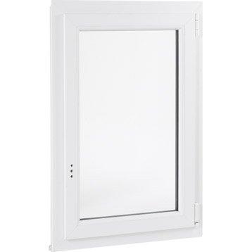 Fenêtre pvc PRIMO 1 vantail ouvrant à la française H.75 x l.60 cm