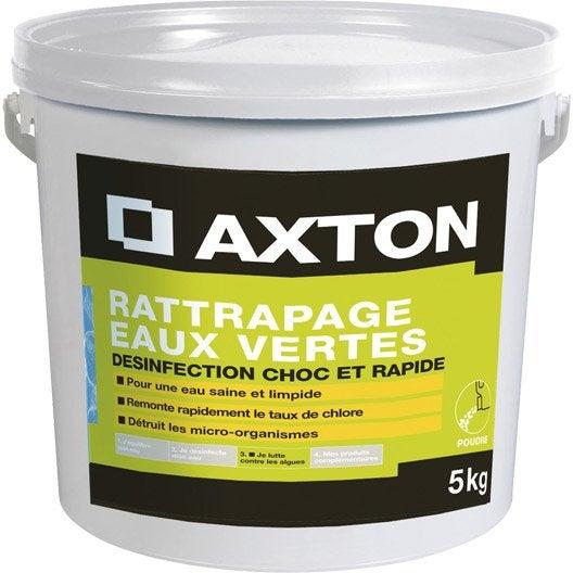 Rattrapage eaux vertes pour piscine axton 5 kg leroy merlin - Rattrapage eau verte piscine ...