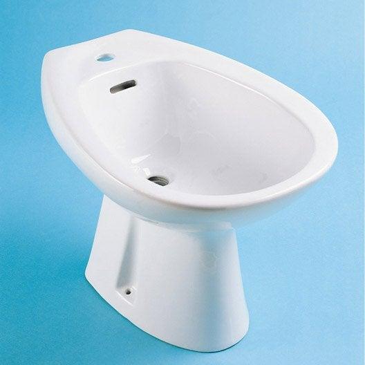 Bidet c ramique blanc nerea leroy merlin for Bidet salle de bain