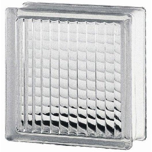 Brique de verre standard quadrill e brillante transparente for Fenetre quadrillee