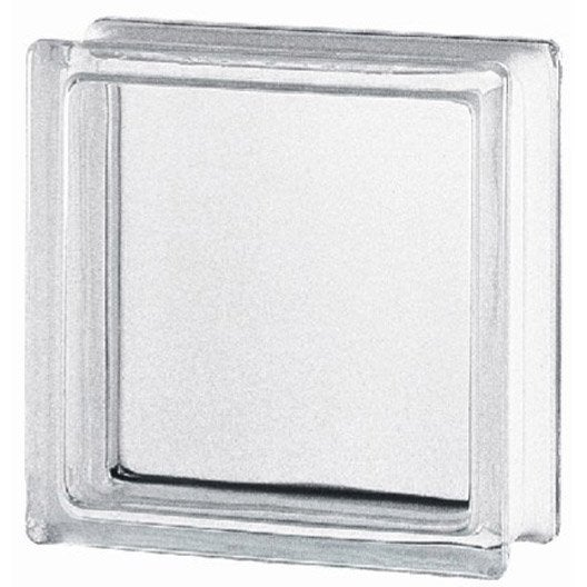 Brique de verre standard lisse brillante transparente leroy merlin - Verre a la coupe leroy merlin ...