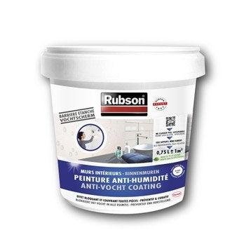 Peinture antihumidité Stop humidité mur de cave, RUBSON blanc 0.75 l