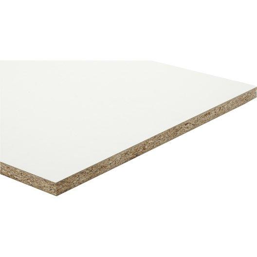 panneau aggloméré blanc, ep.18 mm x l.250 x l.125 cm | leroy merlin