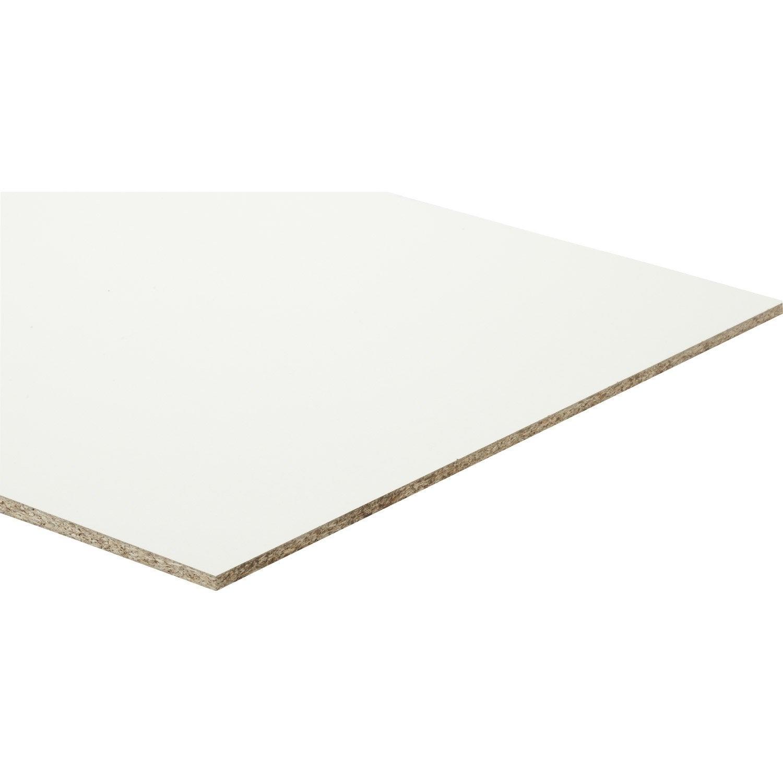 Planche Mélaminé Blanc Castorama panneau aggloméré blanc, ep.10 mm x l.250 x l.125 cm