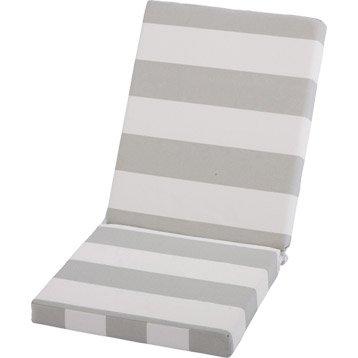 coussin assise dossier de chaise ou de fauteuil jardin prive rayure blanc vert. Black Bedroom Furniture Sets. Home Design Ideas