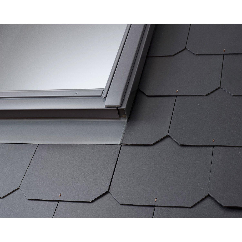 Raccord pour fen tre de toit velux edl ck02 gris leroy for Raccord de toit velux