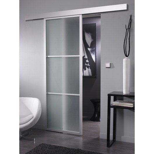 Beautiful ensemble porte coulissante aspen aluminium avec - Kit porte coulissante leroy merlin ...