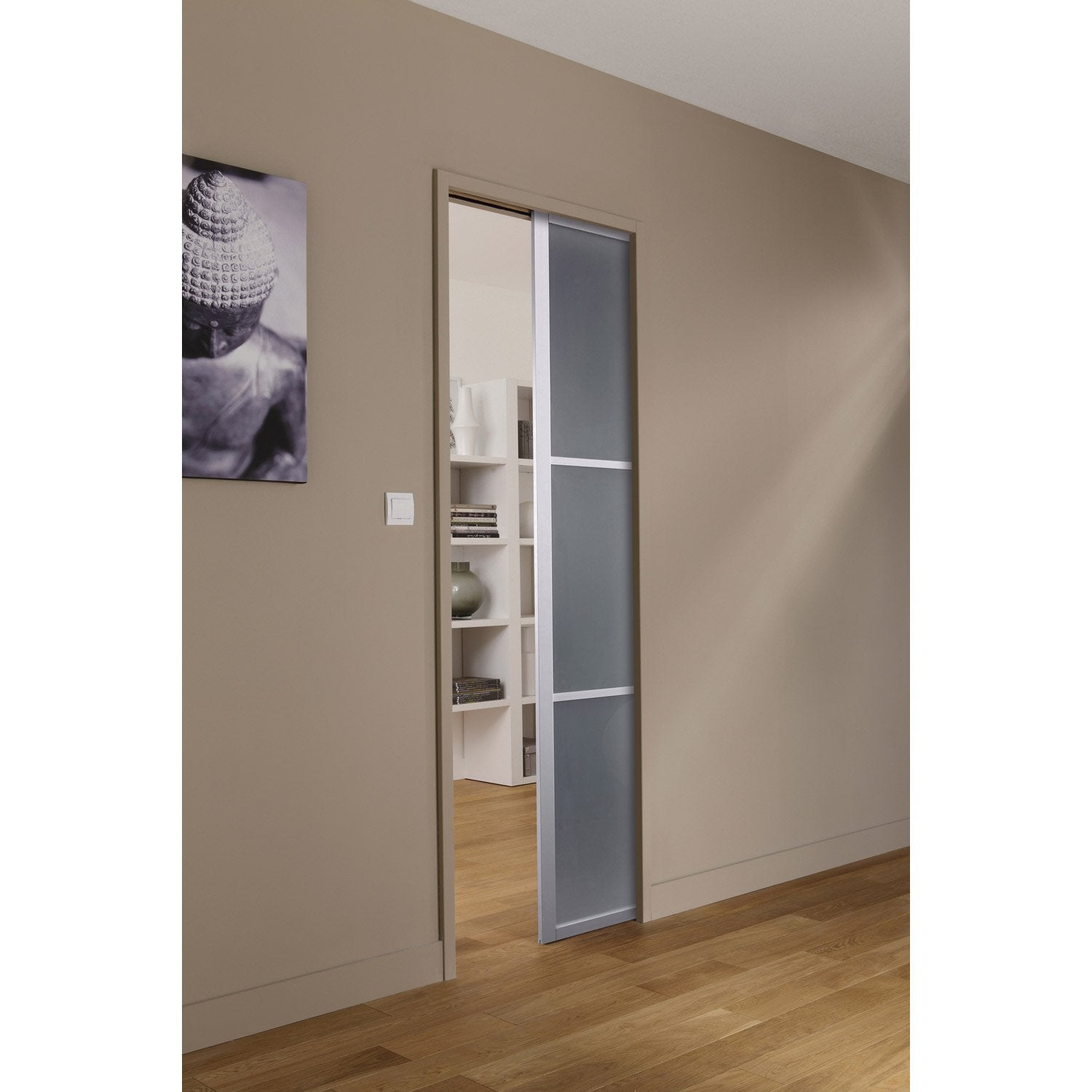 ensemble porte coulissante aspen aluminium avec le. Black Bedroom Furniture Sets. Home Design Ideas
